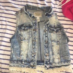 Buckle Jean Vest